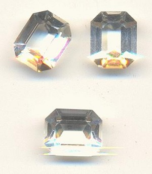 10x8mm Transparent Crystal Octagon RS