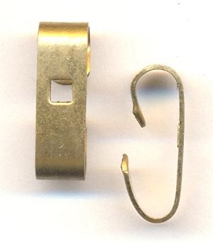20x6mm Smooth Brass Connectors