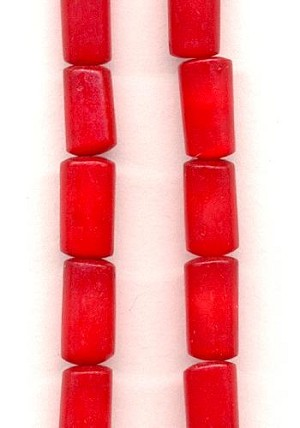 10x5mm Red Resin Cylinder Beads