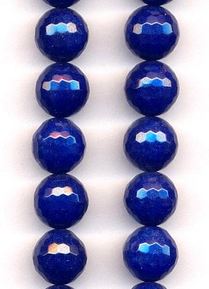 12mm Midnight Blue Faceted Agate