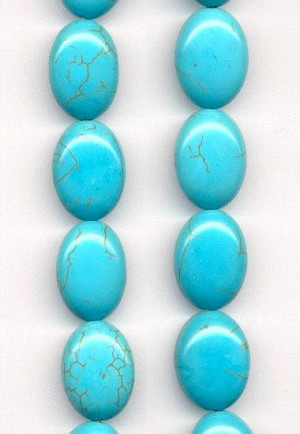 18x13mm Turquoise Dyed Magensite Beads