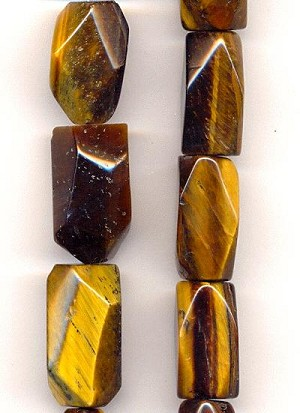22x12mm Tiger's Eye Faceted Nuggets