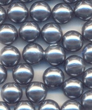 8mm Med Gray Pearl No Hole Acrylic
