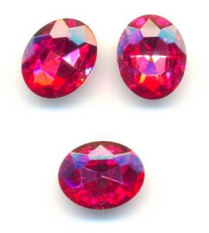 10x8mm Rose Oval RS