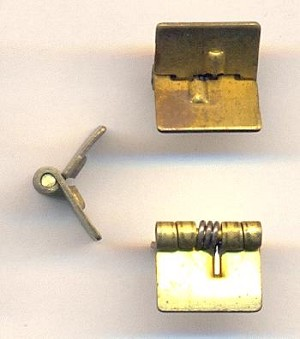 1/2'' (12mm) Brass Spring Hinges