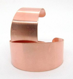 1 1/4'' Tapered Copper Cuff Bracelet