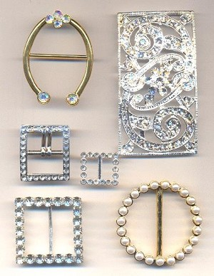 Mixed Lot of Rhinestone Buckles