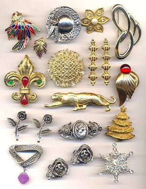 Mixed Brooch & Pin Findings