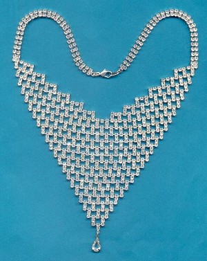 Czech Crystal Rhinestone Bib Necklace