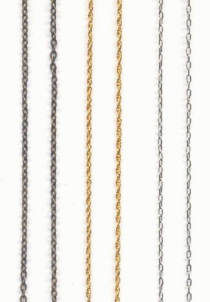 Mixed Brass and Plated Steel Chain