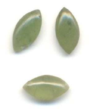 6x3mm Natural Jade Navette Stones