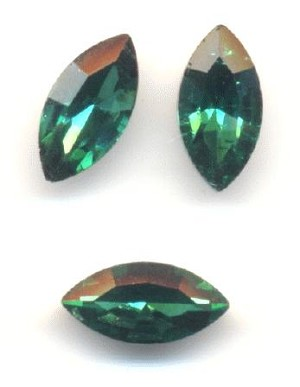 10x5mm Emerald/Green Zircon Nav RS