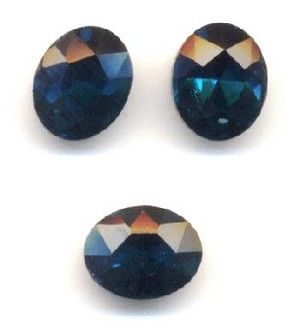 10x8mm Blue Zircon/Indicolite Oval RS
