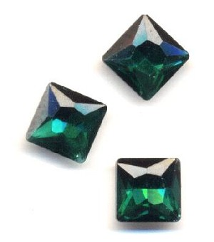 10mm Emerald/Green Zircon Square RS