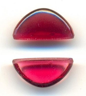 13mmx4.5mm Transparent Ruby Half Moon