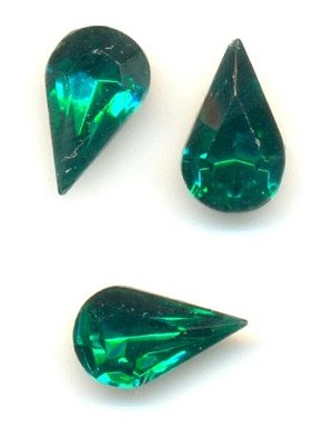 10x6mm Emerald Pear RS