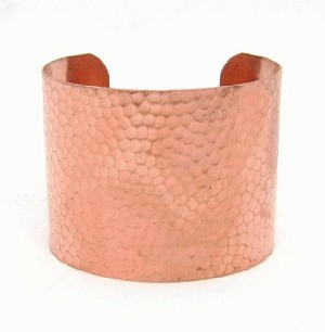 2'' Hammered Copper Cuff