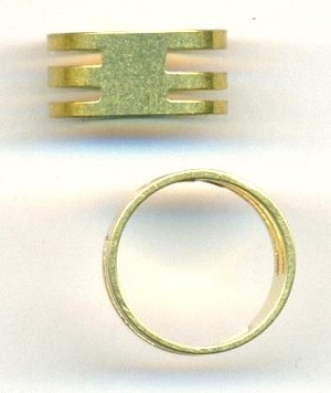 Brass Jump Ring Opening Ring
