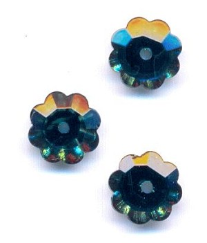 8mm Emerald Flower Sew-On Margarita
