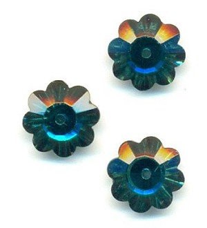 12mm Emerald Flower Sew-On Margarita
