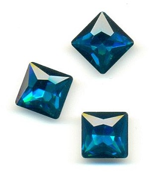 12mm Blue Zircon Square RS