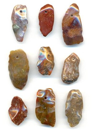 25-32mm Rough Cut Jasper Pendants