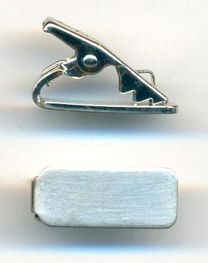 21.5x9mm Brush SP Sweater Guard/Tie Clip