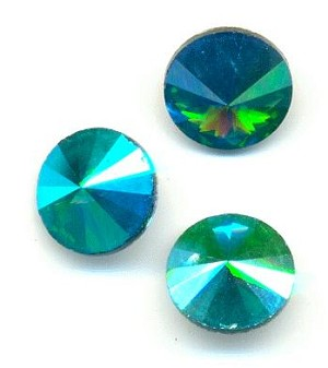 10mm Emerald AB Rivoli RS