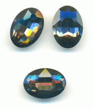 14x10mm Black Diamond Oval RS