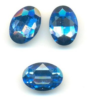 14x10mm Light-Med/Sapphire Oval RS