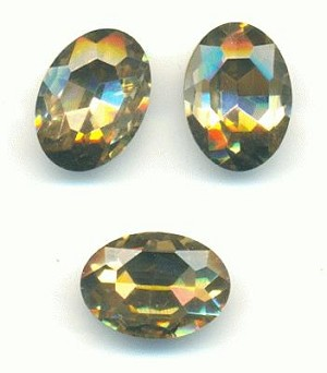 14x10mm Khaki-LT SM Topaz Oval RS