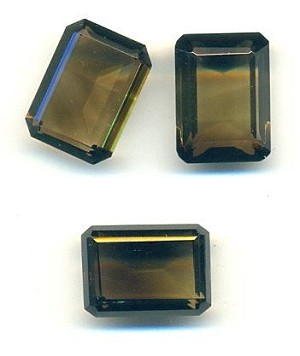 18x13mm Natural Smokey Quartz Octagon RS