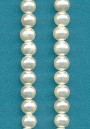 5mm Off-White Glass Pearls