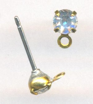 4mm Crystal/Clear Earring Studs