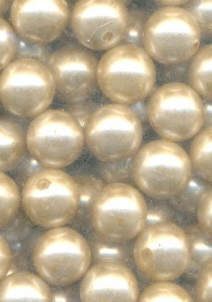 12.5mm Champagne Glass Pearl Beads