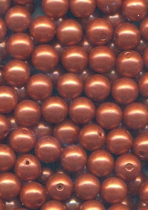 6mm Bronze/Copper Acrylic Pearl Beads