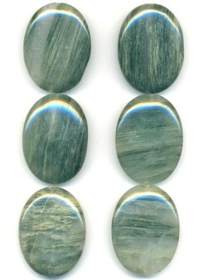 40x30mm Green Oval Stone Bead