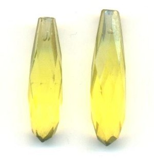 20x5mm Jonquil Faceted Drop Half Drilled