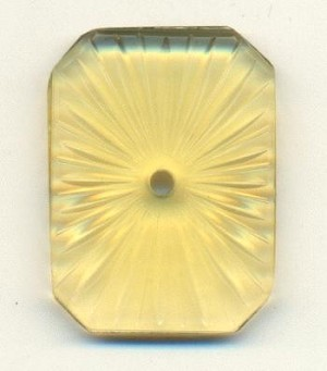 30x22mm Topaz Star Burst Octagon