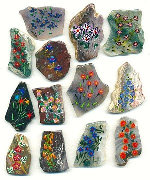 Mixed Lot of Handpainted Natural Stones