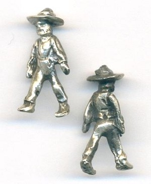 25x10mm Sterling Masked Man Charms