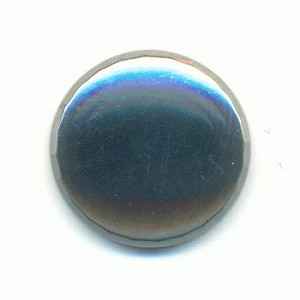 16mm Hematite Flat Back Glass Stones