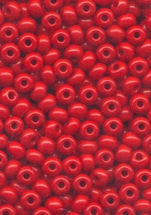 06/0 Opaque Cherry Red Seed Beads