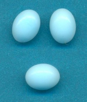 8x6mm Turquoise Glass Oval FB Stones