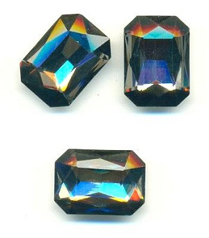 18x13mm Black Diamond Octagon Rhinestone