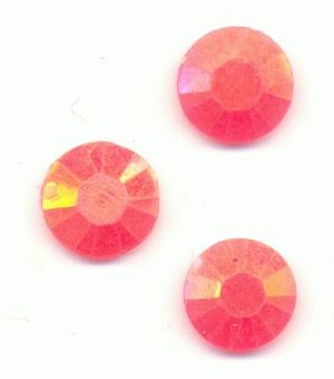6mm Orange Coral AB Jelly Rhinetone-Bulk