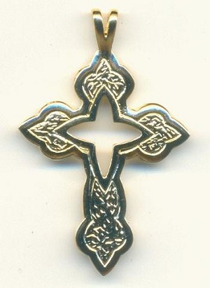 48x31mm Gold Plated Cross