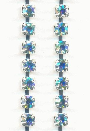 24pp SP Swarovski Aquamarine AB RS Chain