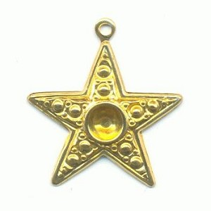 22x19mm Star Charm W/Recess