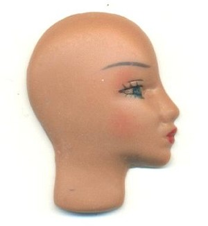 34x25mm Tan Mannequin Faces-Right